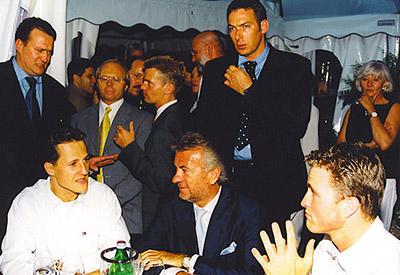 Michael Schumacher, Willi Weber, Ralf Schumacher, Stuttgart